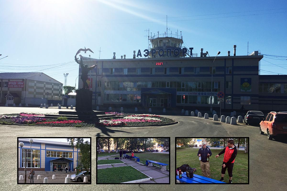 malutkie lotnisko w Syktywkar