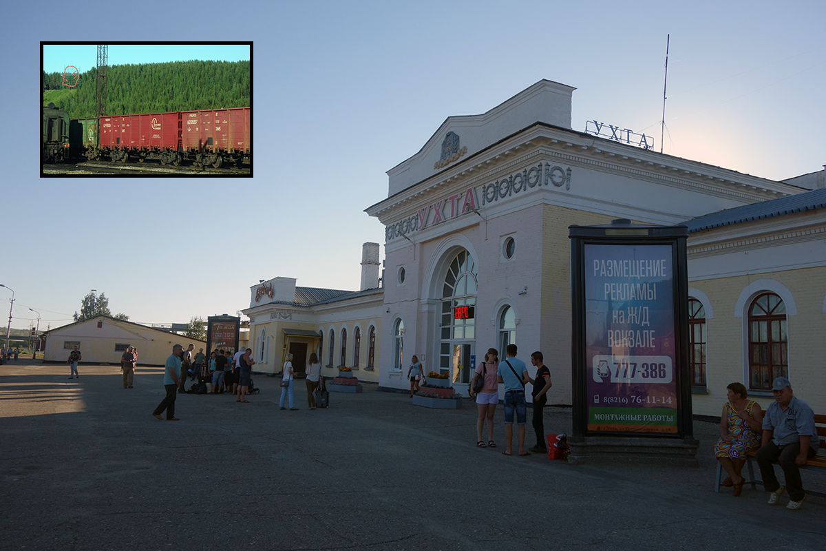 stacja Uchta nad stacją króluje Lenin