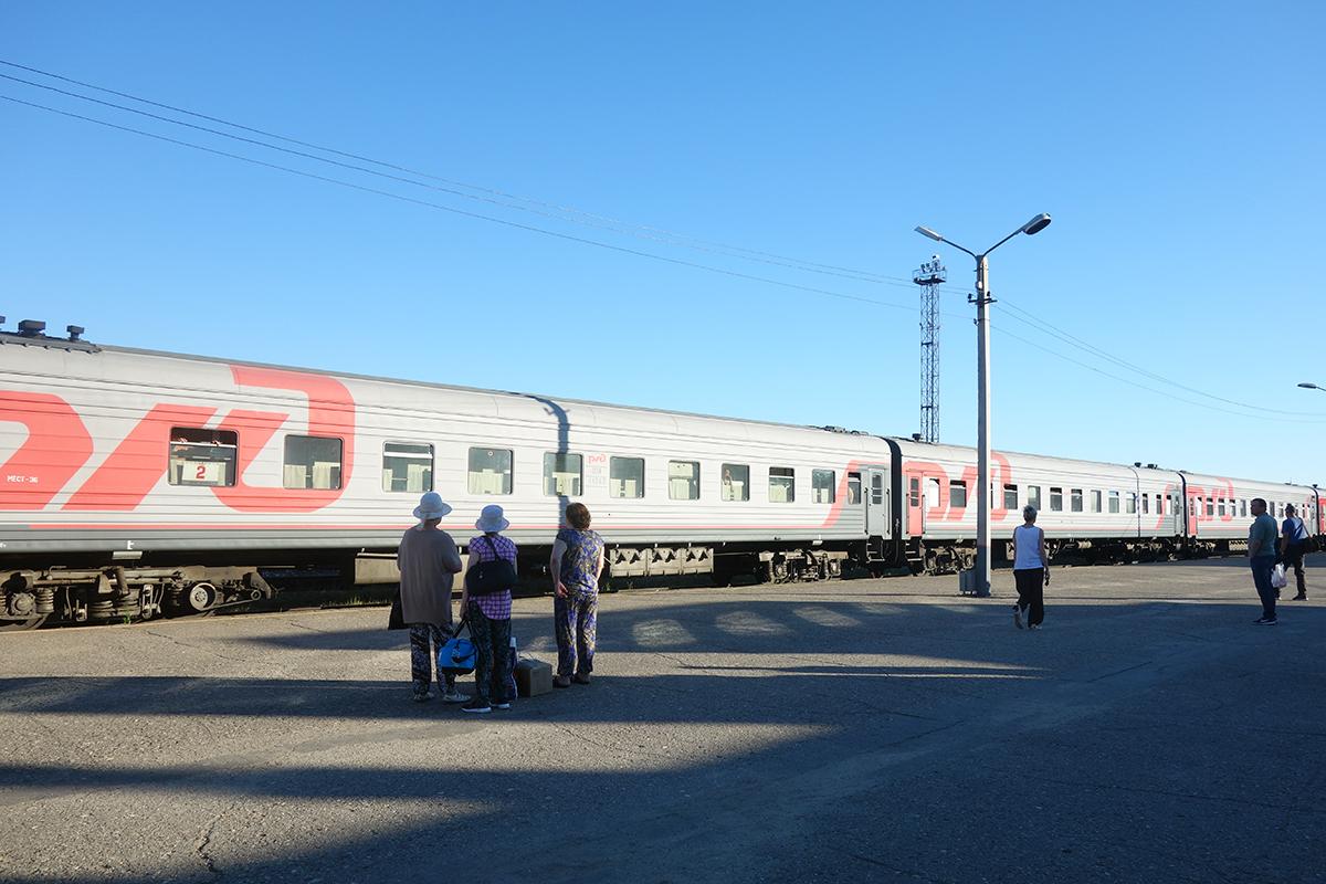 nasz rosyjski pociąg do Inty