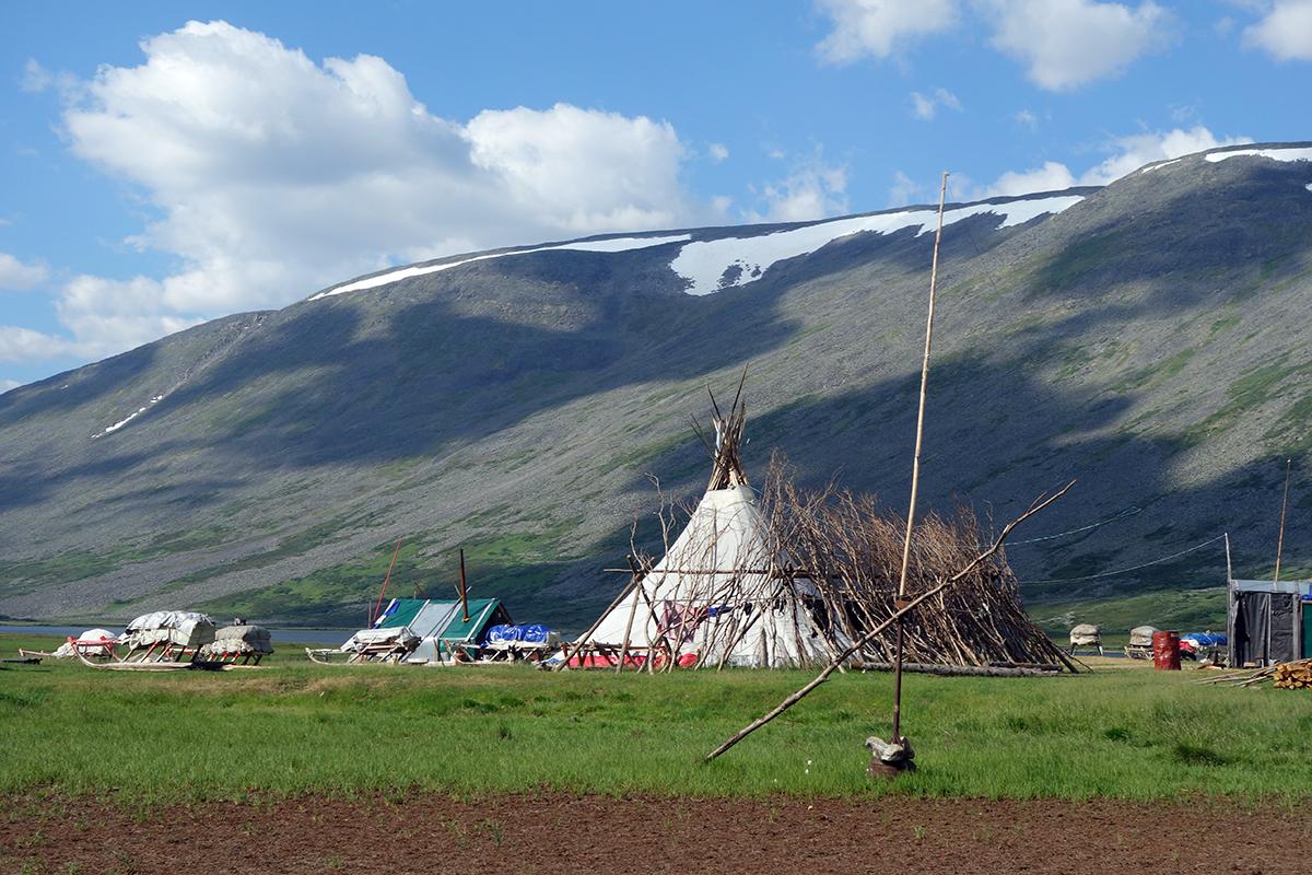 wioska pasterzy reniferów